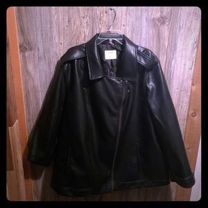 Old Navy Plus Faux Leather Moto Jacket